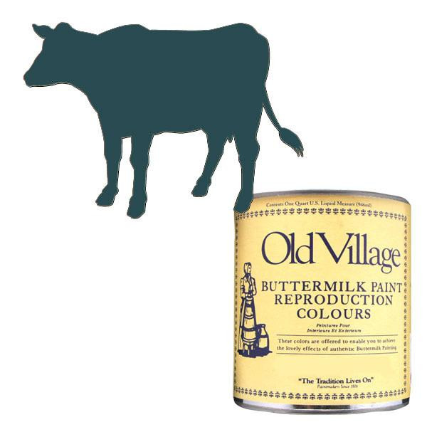 【クーポンあり】Old Village バターミルクペイント ドレッシング テーブル ネイビー ブルー 946mL 605-05102 BM-0510Q 美しいマットな仕上がりのペンキです。
