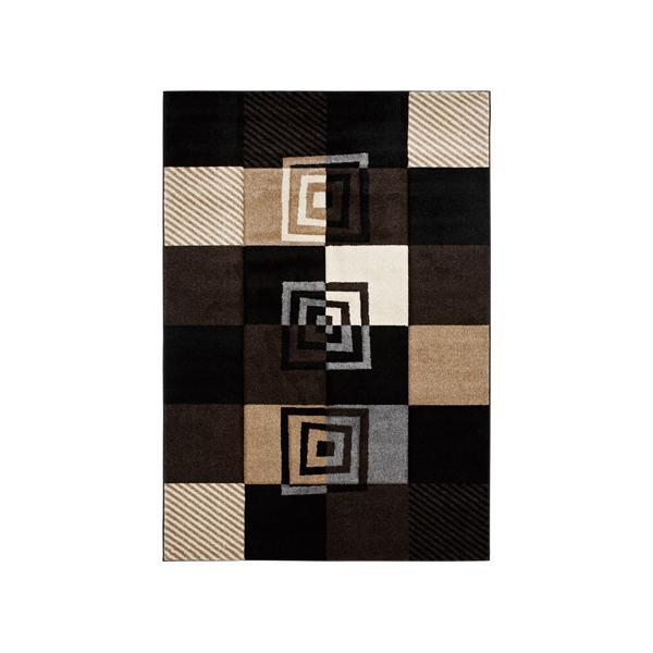 【送料無料】ユナイテッド・ウィーバーズ・オブ・アメリカ バイブスブラック ラグ ルームサイズ 230×160cm UW00470R マット 敷物 インテリア リビング おしゃれ 家具 絨毯 カービング ダイニング