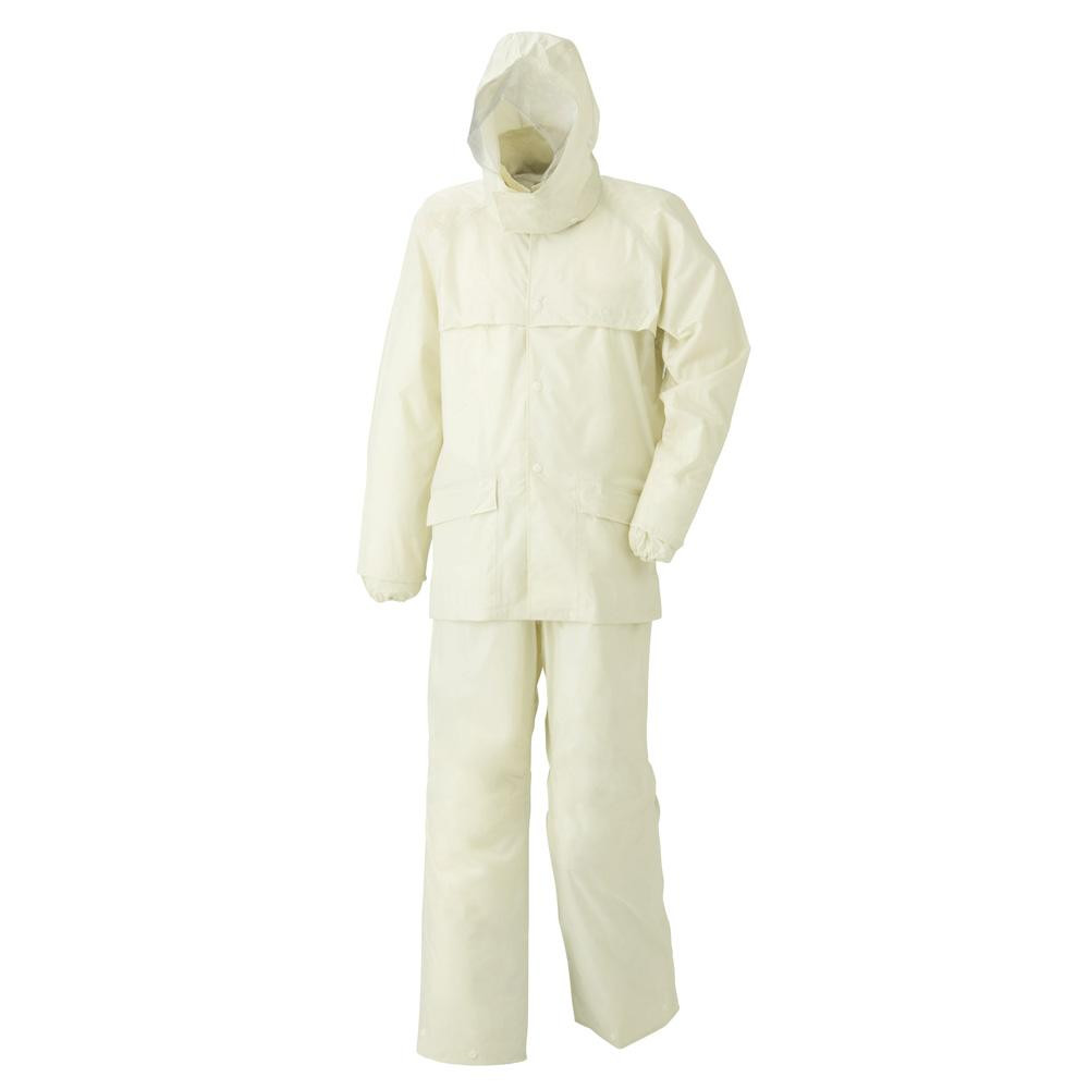 【クーポンあり】【送料無料】スミクラ レインウェア ストリートシャワースーツ A-413 アイボリー BEL