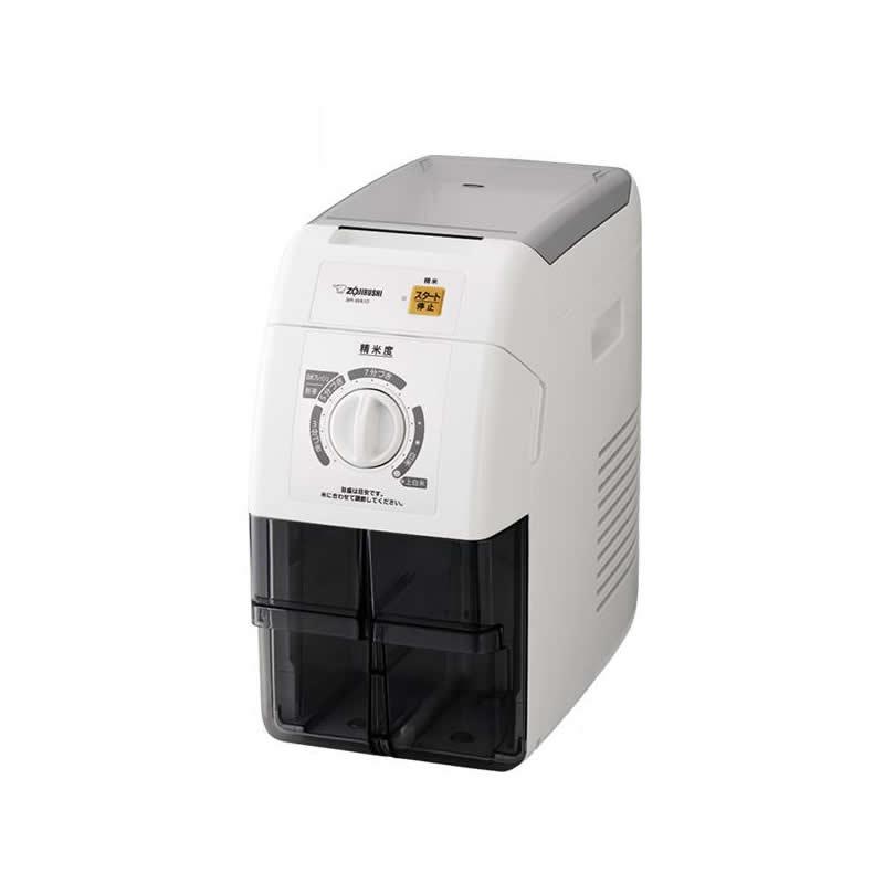 【クーポンあり】【送料無料】象印 家庭用 精米機 つきたて風味 ホワイト 1~10合(1升) BR-WA10-WA 圧力式 1升タイプ 15段階 ご飯 キッチン家電 大容量 上白米 3分づき 家電