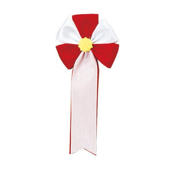 【クーポンあり】【送料無料】ササガワ タカ印 38-260 記章 五方 赤白 100個 セレモニー用品。