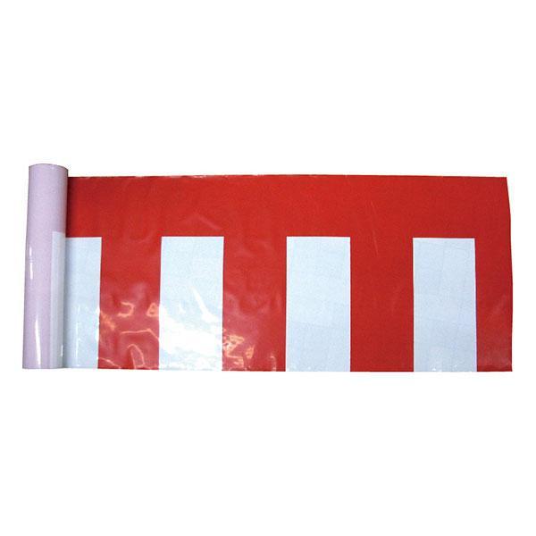 【クーポンあり】【送料無料】B紅白幕 19407 ポリエチレン H750mm 50m巻 ビニール製の紅白幕!!