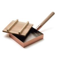【クーポン有】【送料無料】dancyuダンチュウ 純銅玉子焼(18×18cm) 木蓋付 DA-06/玉子焼用のフライパンです。