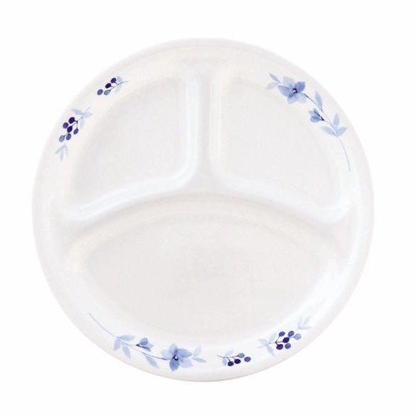 【クーポンあり】【送料無料】CP-9331 コレール ブルーグレイス ランチ皿(大)J310-BK 5枚セット 落ち着いたブルーの花柄シリーズ。