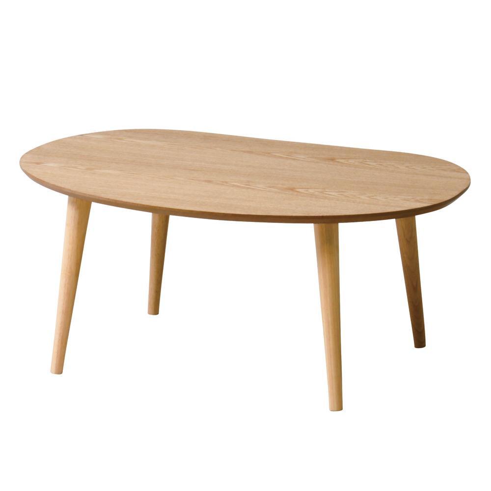 【送料無料】ティーナ ローテーブル ナチュラル TINA-LT750 NA シンプルなデザインで、シーンを選ばずお使いいただけます。