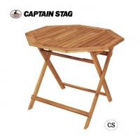 【送料無料】CAPTAIN STAG CSクラシックス FD8角コンロテーブル(90) UP-1018/良質な木のファニチャーでたっぷり遊ぶ!