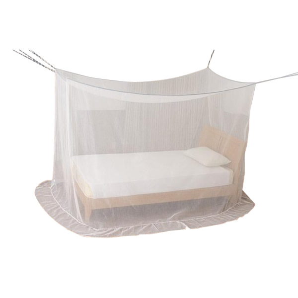 【クーポンあり】【送料無料】新越前蚊帳 ダブルベッド用(洋式2人用、和室1人用) EKBD-01 冷房の風を和らげ快適な朝を迎えるアイテム。