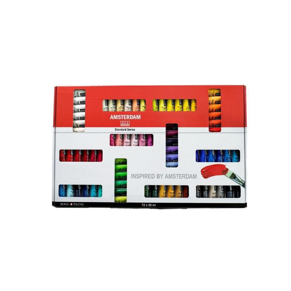 【クーポンあり】【送料無料】アムステルダム アクリリックカラー 20ml 70色72本入セット 404200 大作用絵具ブランド、アムステルダムのアクリリックカラー。