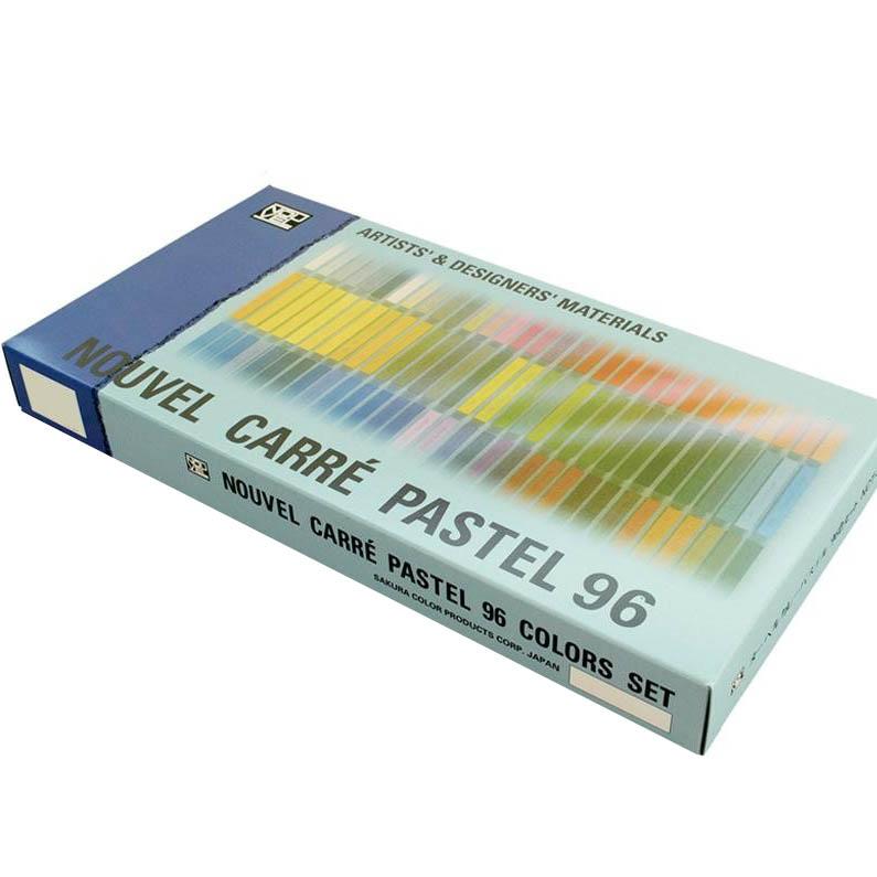 【クーポンあり】【送料無料】NOUVEL CARRE PASTEL ヌーベルカレーパステル 96色セット紙箱入 NCT-96 コンテの持味にパステルの長所を加えた色彩材料。