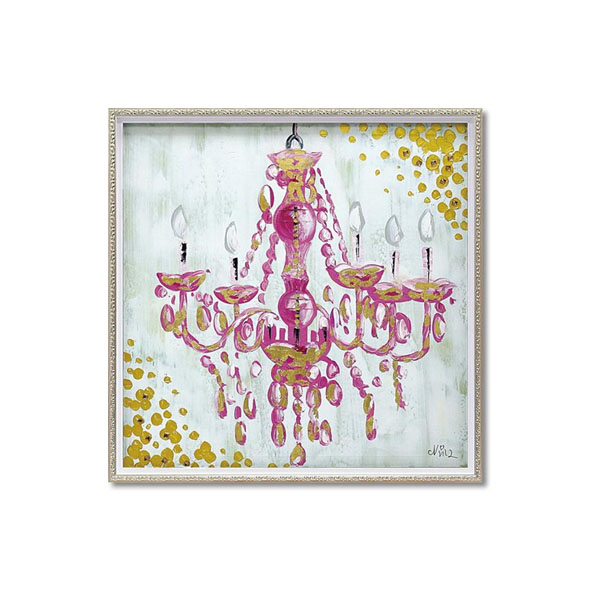 【クーポンあり】【送料無料】ユーパワー OIL PAINT ART オイル ペイント アート 「ラブ シャンデリア」 Mサイズ OP-18074/1枚ずつ丁寧に手描きした、オイルペイントモダンアート☆