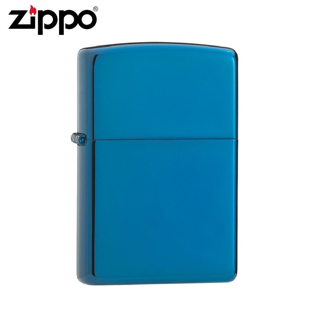 【クーポンあり】ZIPPO(ジッポー) オイルライター 20446 サファイア サファイアのような美しいブルーのZIPPO(ジッポー)。