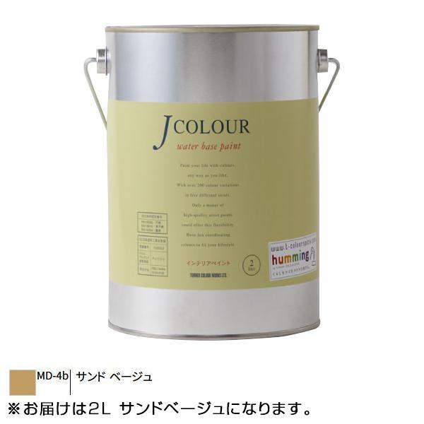 【クーポンあり】ターナー色彩 水性インテリアペイント Jカラー 2L サンドベージュ JC20MD4B 壁紙の上からでも簡単に塗れる新発想のインテリアペイント!