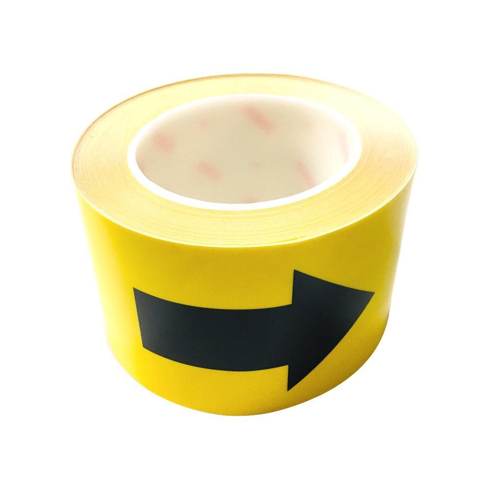 【送料無料】耐摩耗標識テープ → 矢印 黒  11991 耐摩耗性に優れた標識テープです。
