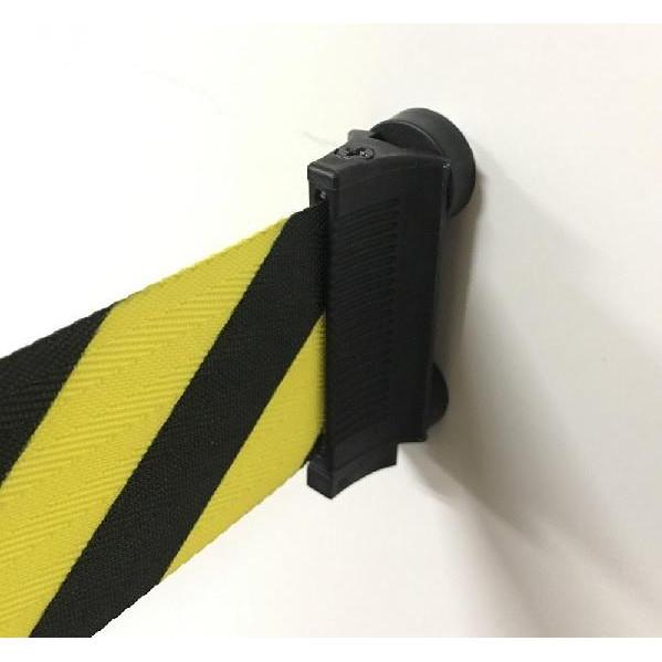 【クーポンあり】【送料無料】壁用ベルトパーテーション(マグネットタイプ) 黄/黒 約5m J2292