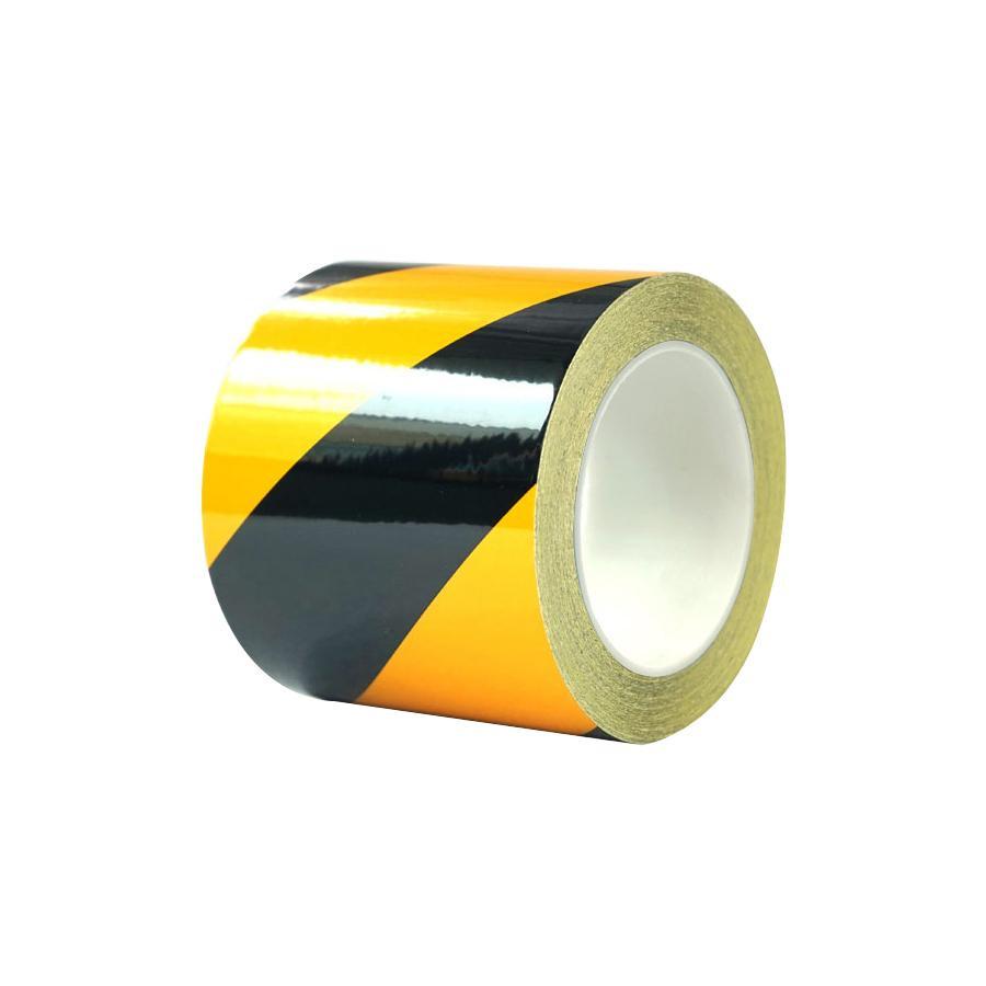 【送料無料】再帰反射ラインテープ 黄/黒 幅100mm x 22m 14346 表示に便利なラインテープ!