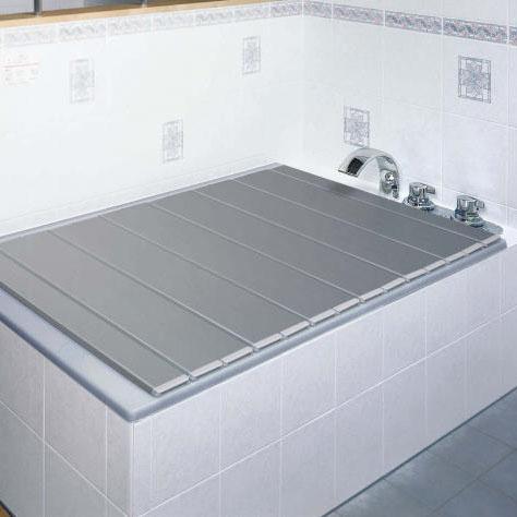 【クーポンあり】【送料無料】AG折りたたみフタ 80×159cm 銀 浴槽 スタイリッシュ コンパクト 風呂 カラー おしゃれ 収納