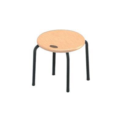 【クーポンあり】【送料無料】ハンドルスツールロー ナチュラル/ブラック HS-3T シンプルなデザインの椅子です。