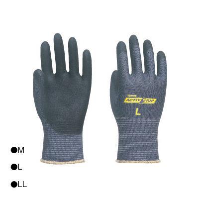 【クーポンあり】東和コーポレーション(TOWA) 背抜き手袋 アクティブグリップ ブルーグレー 3双組×5袋 583 ニトリルWコーティング