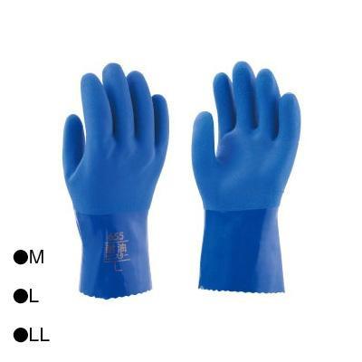 【クーポンあり】東和コーポレーション(TOWA) フルコート手袋 耐油ビニスター ブルー 10双 655 油を使う各種作業に適しています。