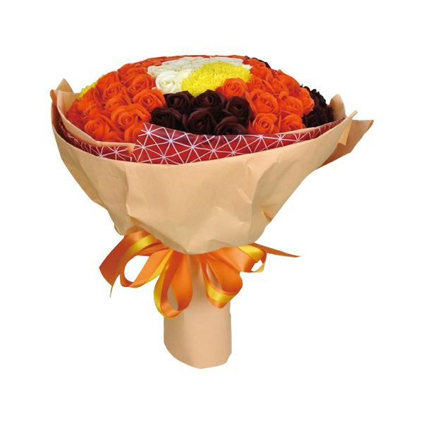 【送料無料】SAVON FLOWER 99本ローズ S-070 MIX 99本の薔薇の花言葉は「永遠の愛」。