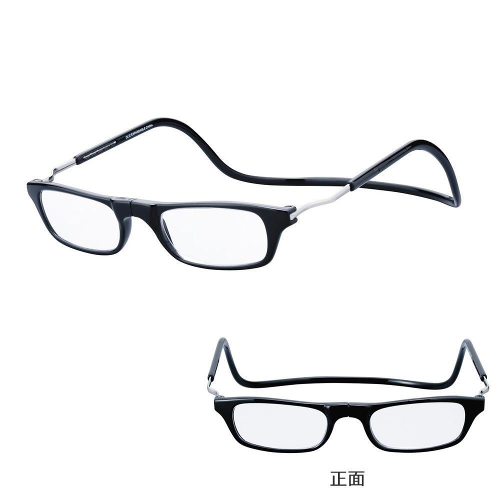 【送料無料】老眼鏡 clic readers クリックリーダー エクスパンダブル ブラック +3.50 074096 スタイリッシュなデザインで機能的。