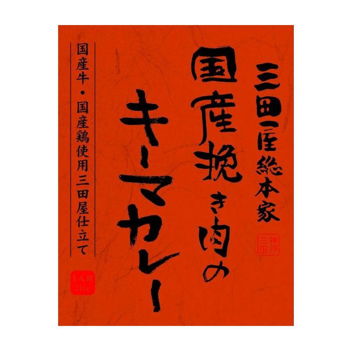 【クーポンあり】【送料無料】三田屋総本家 国産挽き肉のキーマカレー 210g×20入
