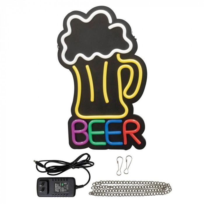 【クーポンあり】【送料無料】LEDライトサイン BEER 29940