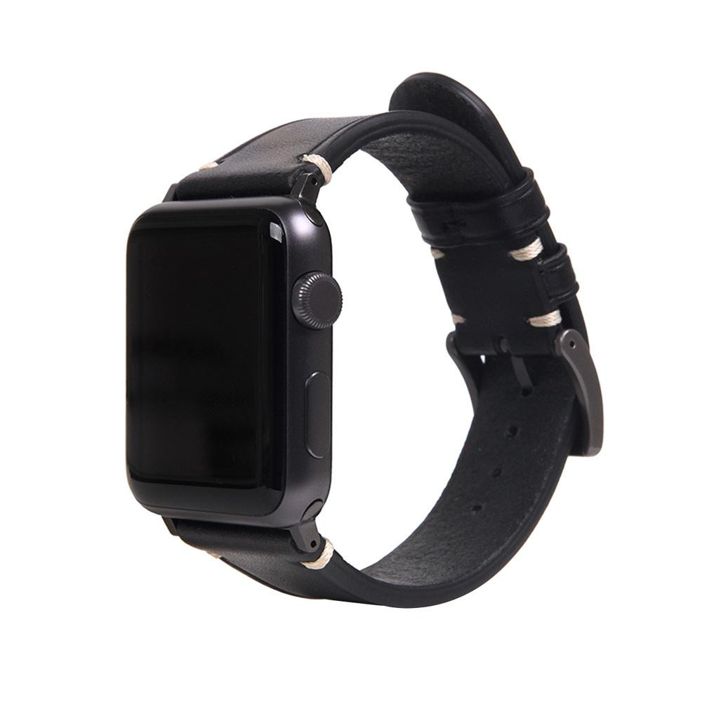 【クーポンあり】【送料無料】SLG Design(エスエルジーデザイン) Apple Watch バンド 42mm/44mm用 Italian Buttero Leather ブラック SD18382AW