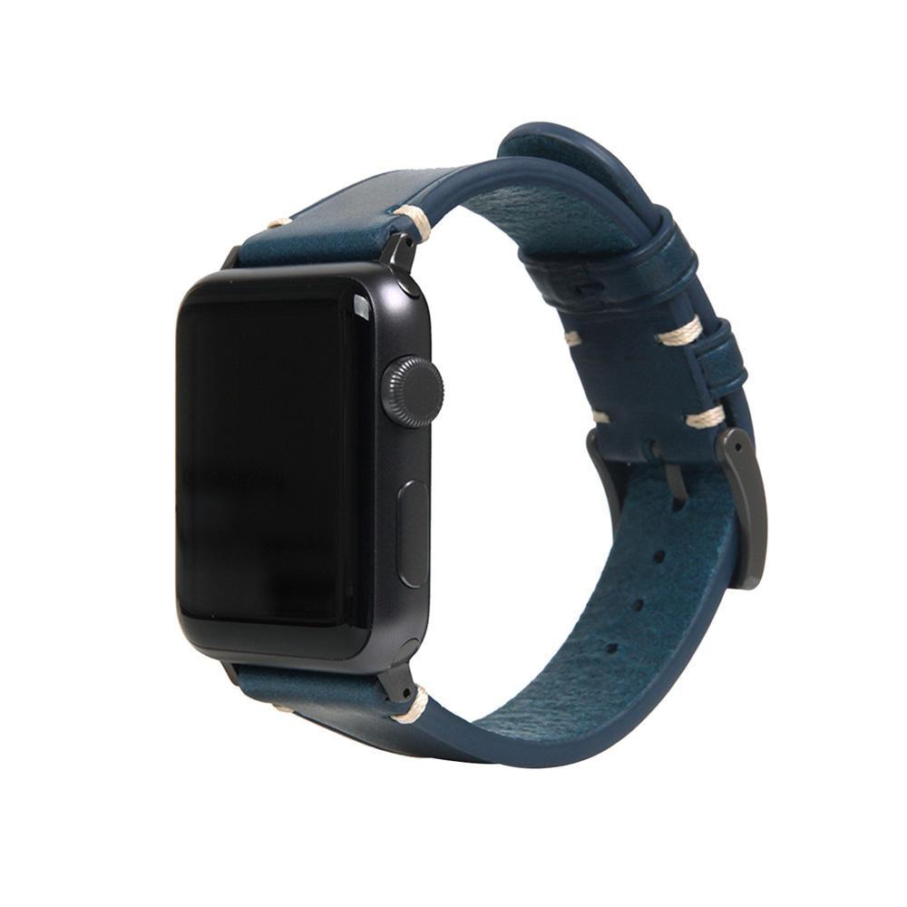 【クーポンあり】【送料無料】SLG Design(エスエルジーデザイン) Apple Watch バンド 38mm/40mm用 Italian Buttero Leather ブルー SD18384AW オシャレなApple Watchバンド!
