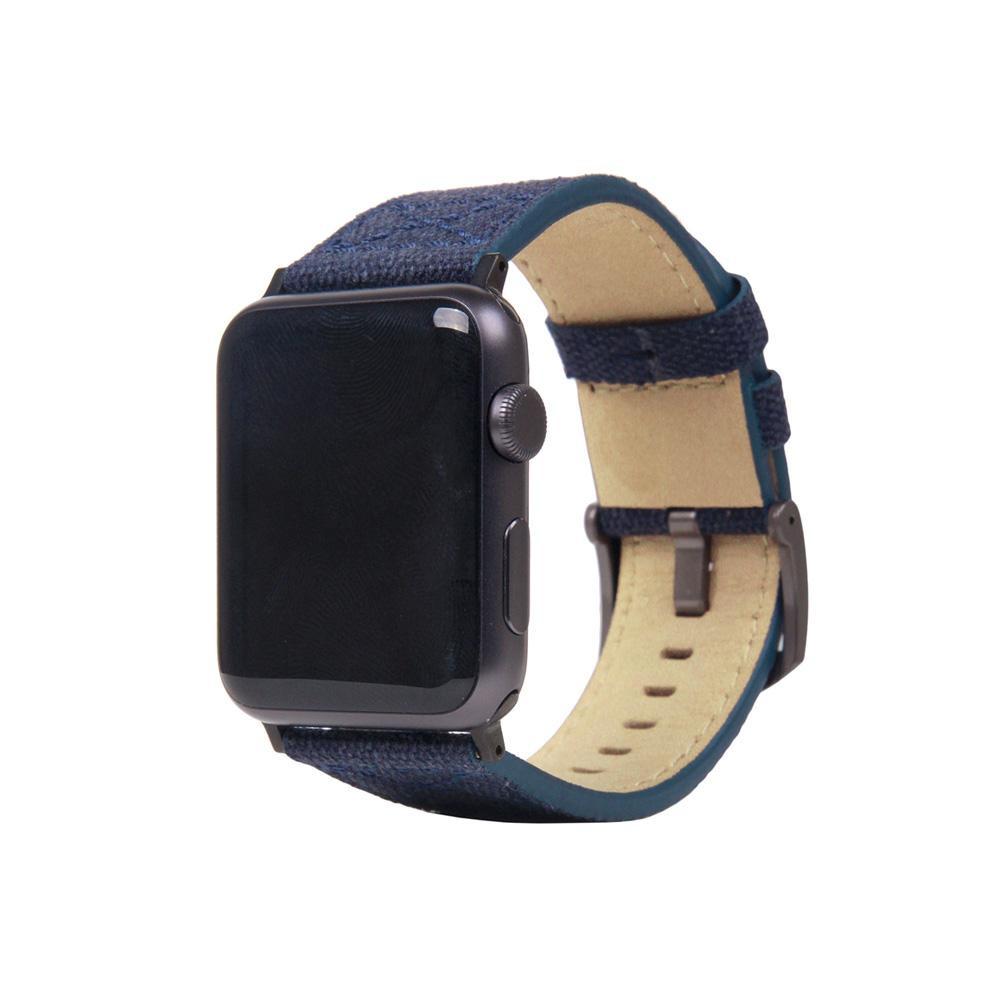 【クーポンあり】SLG Design(エスエルジーデザイン) Apple Watch バンド 42mm/44mm用 Wax Canvas ネイビー SD16044AW カジュアルでオシャレなApple Watchバンド!