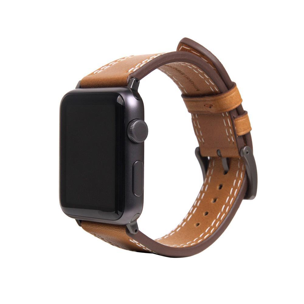 【クーポンあり】【送料無料】SLG Design(エスエルジーデザイン) Apple Watch バンド 42mm/44mm用 Italian Temponata Leather タン SD16050AW
