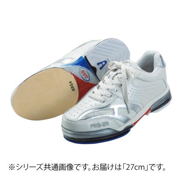 【クーポンあり】【送料無料】ABS ボウリングシューズ ABS CLASSIC 左右兼用 ホワイト・シルバー 27cm