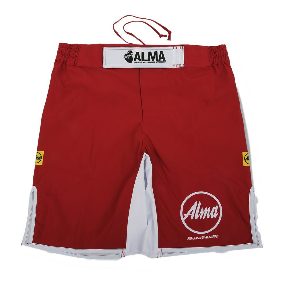 【クーポンあり】【送料無料】ALMA アルマ ファイトパンツ KING OF KINGS キング オブ キングス L 赤 ALP1-L-RD ベルトにロゴを刺繍で刻み込んだモデル。