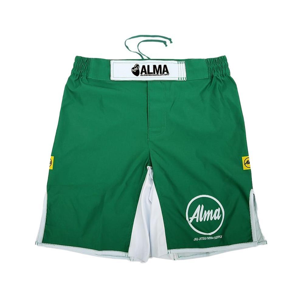 【クーポンあり】【送料無料】ALMA アルマ ファイトパンツ KING OF KINGS キング オブ キングス L 緑 ALP1-L-GR ベルトにロゴを刺繍で刻み込んだモデル。