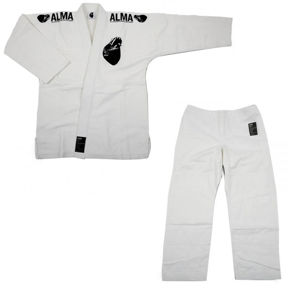 【クーポンあり】【送料無料】ALMA アルマ レギュラーキモノ 国産柔術衣 A1 白 上下 JU1-A1-WH