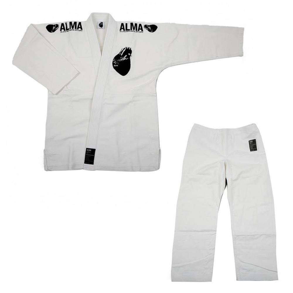 【クーポンあり】【送料無料】ALMA アルマ レギュラーキモノ 国産柔術衣 M1 白 上下 JU1-M1-WH 着心地柔らか!