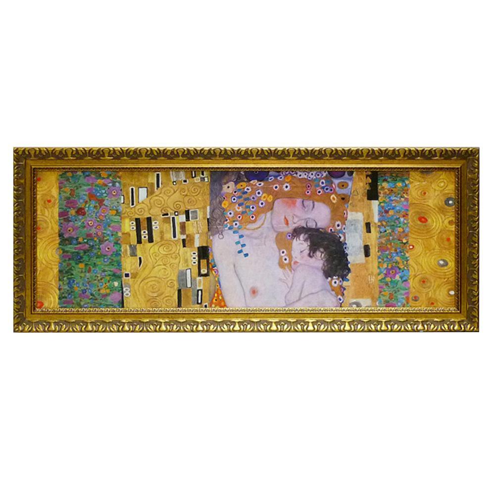 【送料無料】ユーパワー クリムト デコパネル コレクション「人生の三段階」 GK-17032 絵と額がセットになった商品です。