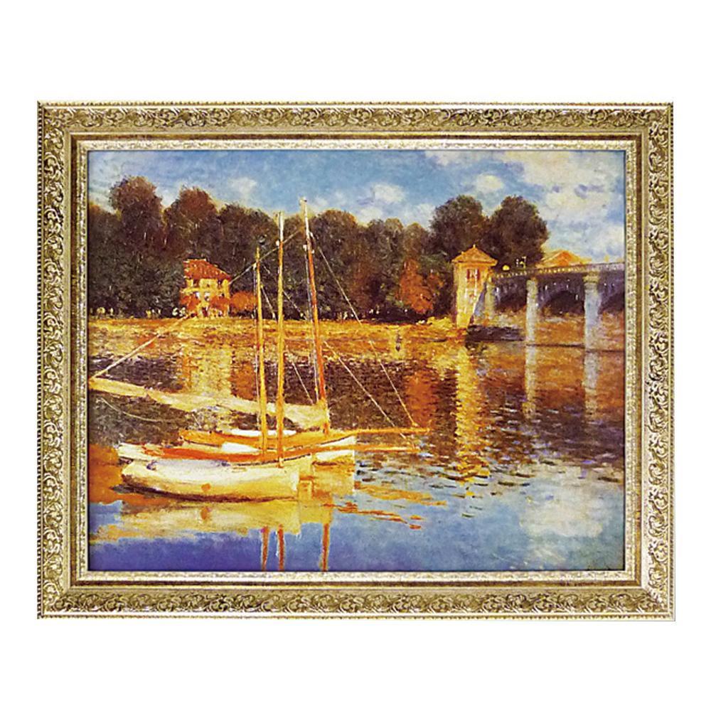 【送料無料】ユーパワー ミュージアム シリーズ モネ「アルジャントゥイユの橋」 MW-14002 絵と額がセットになった商品です。