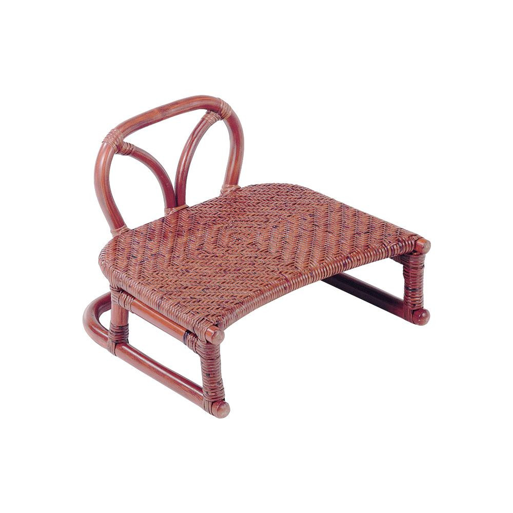 【クーポンあり】【送料無料】今枝ラタン 正座椅子 ブラウン SZ-204D