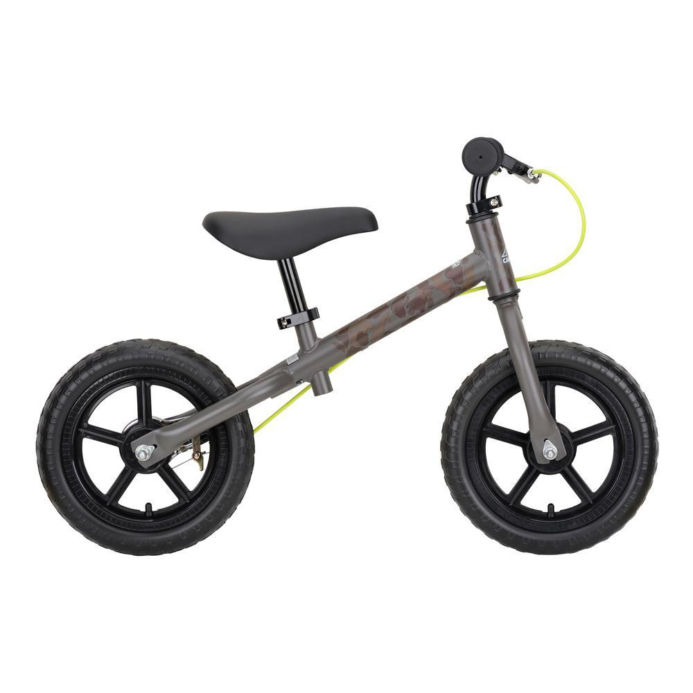 【クーポンあり】【送料無料】CAPTAIN STAG キャプテンスタッグ キャンプアウト トレーニングバイク グレーカモ YG-1210 空気漏れしない ペダルなし 自転車 アウトドア 練習 おしゃれ かわいい スポーツ ウレタンタイヤ