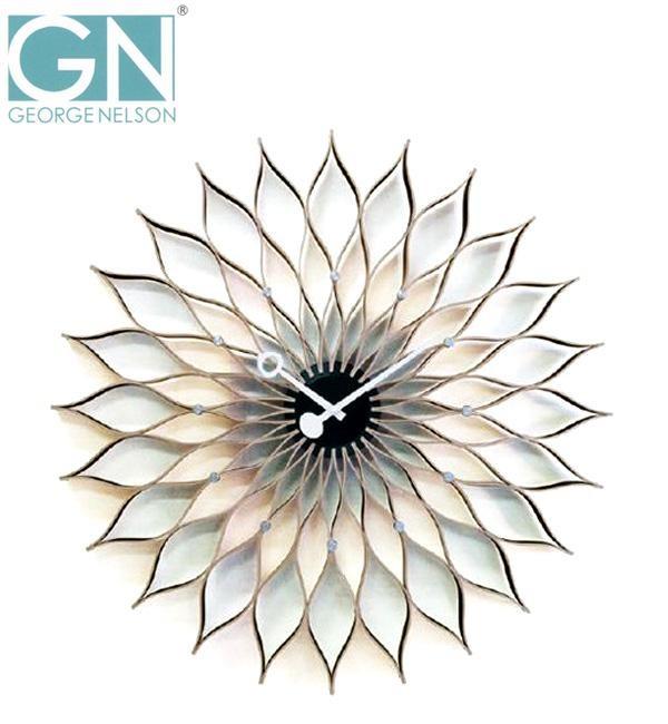 【送料無料】George Nelson ジョージ・ネルソン 壁掛け時計 サンフラワー・クロック GN304/ミッドセンチュリーを代表するモダンデザインの傑作をお部屋に♪