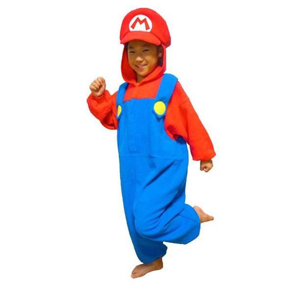 サザック フリース着ぐるみ スーパーマリオ マリオ 子供用 お部屋着から仮装パーティーまで☆なりきり着ぐるみ!!
