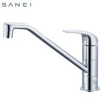 【クーポンあり】【送料無料】三栄水栓 SANEI シングルワンホール分岐混合栓 寒冷地 K87010BTJK-13C