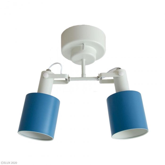 【クーポンあり】【送料無料】ELUX(エルックス) REVO(レヴォ) 2灯シーリングスポットライト ブルー LC10971-BL