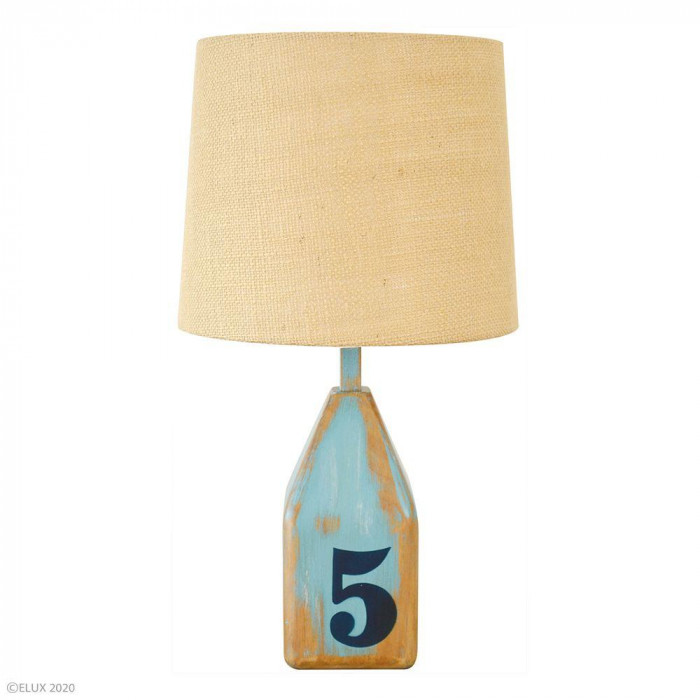 【クーポンあり】【送料無料】ELUX(エルックス) CARIBURN(カリバーン) テーブルライト ブルー LC10940-BL