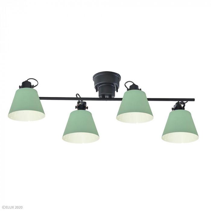 【クーポンあり】【送料無料】ELUX(エルックス) FLAGS(フラッグス) 4灯シーリングライト グリーン LC10929-GR