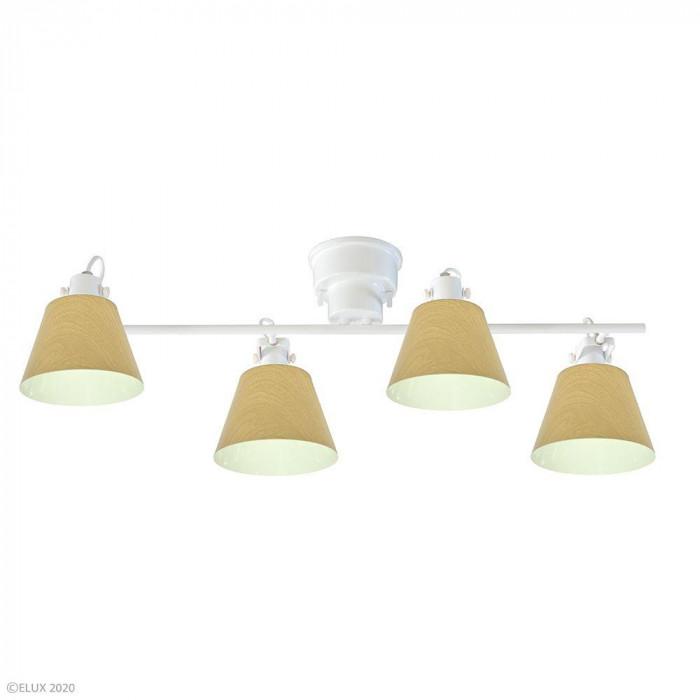 【送料無料】ELUX(エルックス) FLAGS(フラッグス) 4灯シーリングライト ナチュラルウッド LC10930-NW