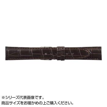 【クーポンあり】【送料無料】MIMOSA(ミモザ) 時計バンド クロコマット 18mm ブラウン (美錠:銀) WRM-B18