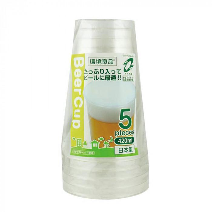 【クーポンあり】【送料無料】アートナップ ES ビールカップ420ml 5個×150 ES-03