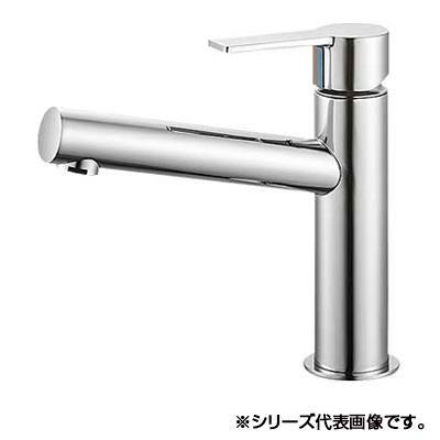 【クーポンあり】【送料無料】三栄 SANEI column シングルワンホール洗面混合栓 K4750NV-13 吐水、止水が簡単に行えます。